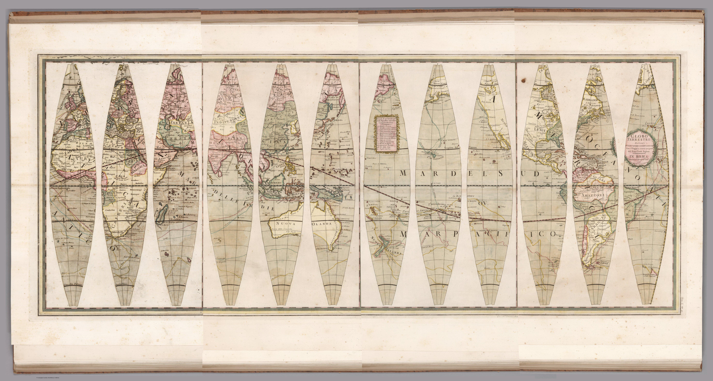 Giovanni Maria Cassini, Globo terrestre, in Nuovo atlante geografico universale delineato sulle ultime osservazioni (Rome, 1790). © 2000 by Cartography Associates, under Attribution-NonCommercial-ShareAlike 3.0 Unported (CC BY-NC-SA 3.0) licence.